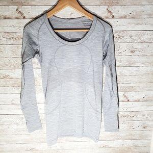 Lululemon Run Swiftly Long Sleeve Shirt Light Grey